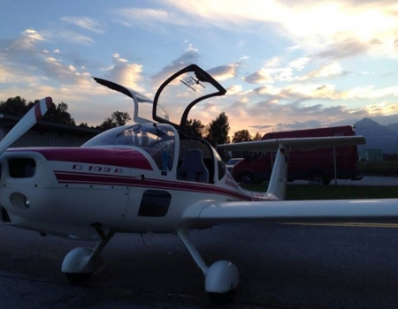 Grob 109B certified for visual night flying