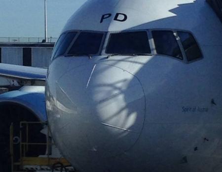 Boeing 777 Spirit of Austria in Vienna LOWW
