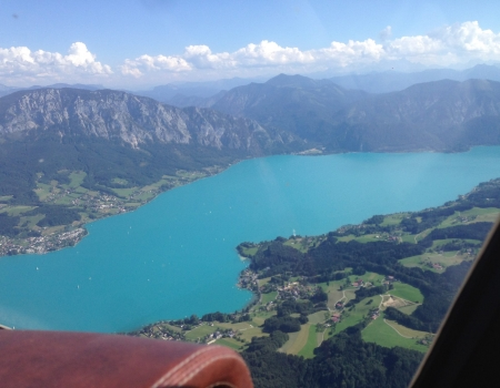 Grob 109B sightseeing trip to Attersee (Austria)