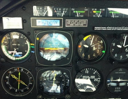 Mooney M20K Intrument panel